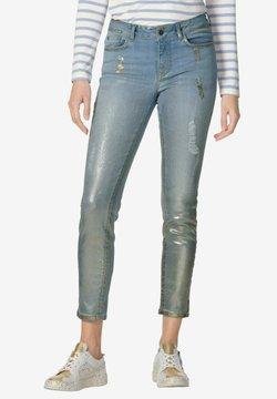 Amy Vermont - Jeans Slim Fit - blue bleached goldfarben