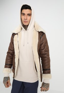 Alpha Industries - Kunstlederjacke - brown