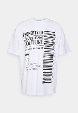 Versace Jeans Couture - INTERLOCK - Printtipaita - bianco ottico