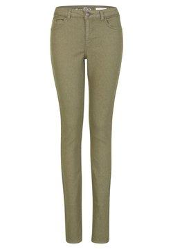 Miss E - ELISE - Slim fit jeans - light olive