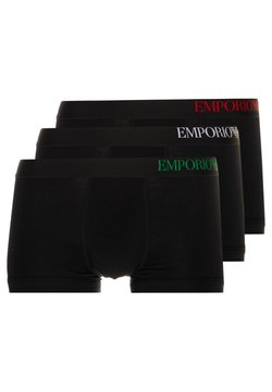 Emporio Armani - 3 PACK TRUNK - Shorty - black
