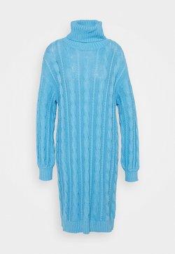 Glamorous - CABLE JUMPER  DRESS WITH VOLUME LONG SLEEVES - Neulemekko - alaskan blue
