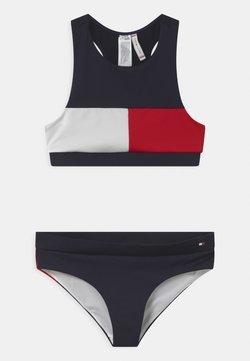 Tommy Hilfiger - CROP SET - Bikini - blue