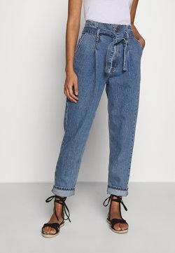 Topshop - PAPERBAG MOM - Jeans Relaxed Fit - mid blue