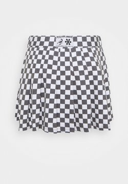 NEW girl ORDER - CHECKERBOARD SKIRT - A-Linien-Rock - black/white