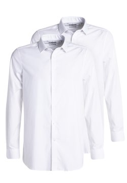 Next - SLIM FIT COTTON SHIRTS 2 PACK - Businesshemd - off-white