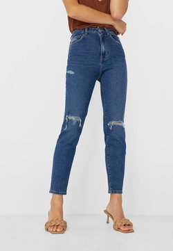 Stradivarius - Jean slim - blue denim