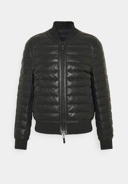 Emporio Armani - Leather jacket - black
