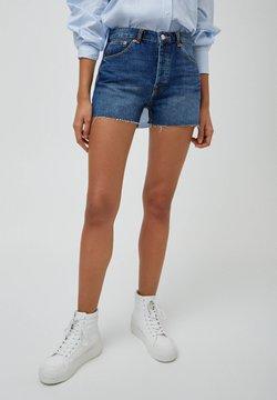 PULL&BEAR - Jeans Short / cowboy shorts - dark blue