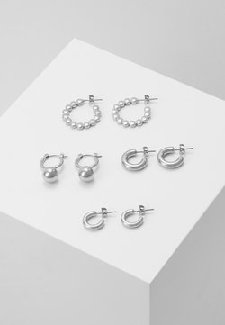 Pieces - PCDIELLE HOOP EARRINGS 4 PACK  - Earrings - silver-coloured