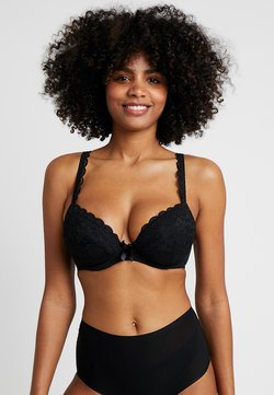 Pour Moi - REBEL PADDED PLUNGE BRA - Biustonosz push-up - black