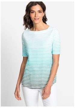 Olsen - MIT STREIFEN FARBVERLAUF - T-Shirt print - light blue