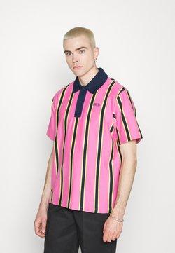 adidas Originals - STRIPE UNISEX - Poloshirt - screaming pink/yellow/collegiate navy