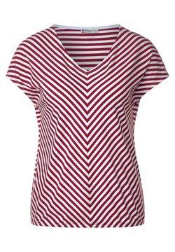 Street One - T-SHIRT MIT STREIFEN - T-Shirt print - rot