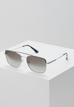 Prada - Lunettes de soleil - gunmetal/silver-coloured/gradient grey mirror
