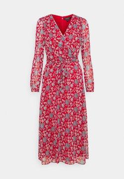 Lauren Ralph Lauren - PRINTED GEORGETTE DRESS - Day dress - red/blue/multi