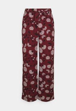 ONLY - ONLNOVA PALAZZO PANT - Pantalon classique - port royale/white