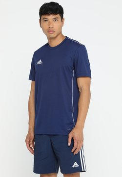 adidas Performance - AEROREADY PRIMEGREEN JERSEY SHORT SLEEVE - Printtipaita - drak blue/white
