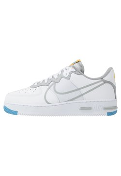 Nike Sportswear - AIR FORCE 1 REACT - Sneaker low - white/light smoke grey/universal red/universal gold/universal blue/gym blue