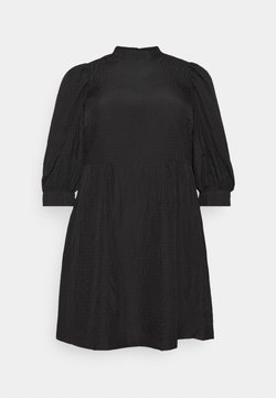Vero Moda Curve - VMSILJE HIGH-NECK SHORT DRESS - Vestido informal - black