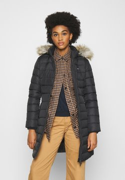 Tommy Jeans - ESSENTIAL HOODED COAT - Down coat - black