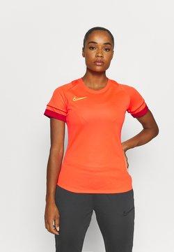 Nike Performance - ACADEMY 21 - Printtipaita - bright crimson/gym red/volt