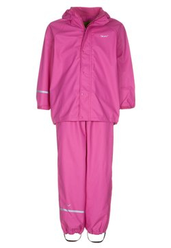 CeLaVi - RAINWEAR SUIT BASIC SET WITH FLEECE LINING - Regnbyxor - real pink