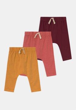 Cotton On - ANDERS 3 PACK UNISEX - Broek - noir grape/burnt squash/red brick
