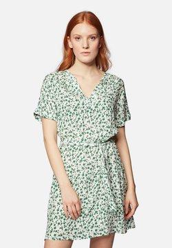 Mavi - PRINTED DRESS - Freizeitkleid - white green petal print