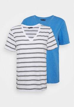 Marks & Spencer London - SLUB 2 PACK - T-Shirt print - blue