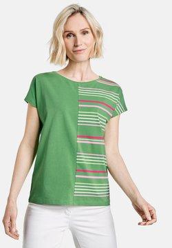 Gerry Weber - T-Shirt print - grün/lila/pink patch