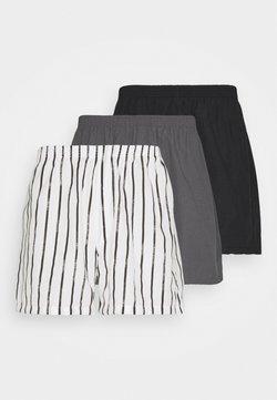 Pier One - 3 PACK - Boxershorts - black/dark grey/white