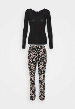 Hunkemöller - SET NECK LACE DAISY - Pyjama - black