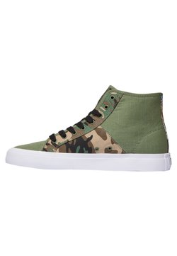 DC Shoes - Korkeavartiset tennarit - black/military camo