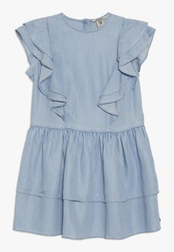 Scotch & Soda - RUFFLE DRESS - Jeanskleid - sky blue