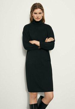 Massimo Dutti - MIT KORDEL - Gebreide jurk - black