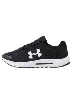 Under Armour - MICRO G PURSUIT - Sports shoes - black/white