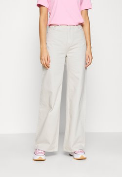 Weekday - ACE - Flared Jeans - tinted ecru