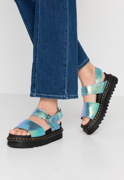 Dr. Martens - VOSS - Korkeakorkoiset sandaalit - blue iridescent