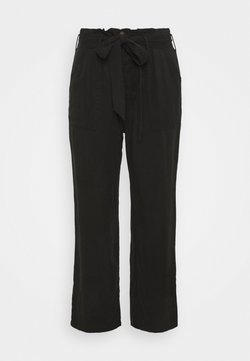 CAPSULE by Simply Be - SOFT WIDE LEG PANT - Stoffhose - washed black