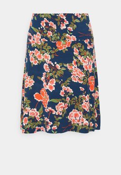 King Louie - BORDER SKIRT - A-Linien-Rock - blue