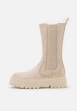 Steve Madden - VIVIANNE - Platform boots - beige