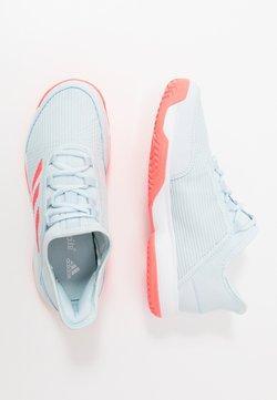 adidas Performance - ADIZERO CLUB - Massakentän kengät - sky tint/signal pink/footwear white