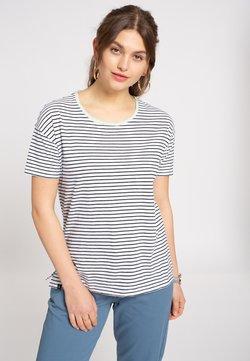 recolution - STRIPES - T-Shirt print - navy / white