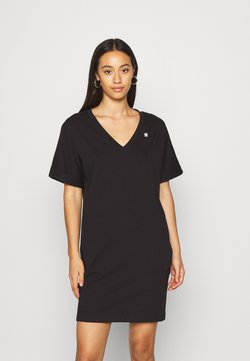 G-Star - LOOSE DRESS V WMN S\S - Jerseykleid - black