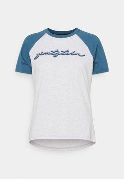 Zimtstern - SWEETZ TEE - T-Shirt print - glacier grey melange/blue steel