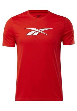 Reebok - WORKOUT READY GRAPHIC T-SHIRT - T-Shirt print - red