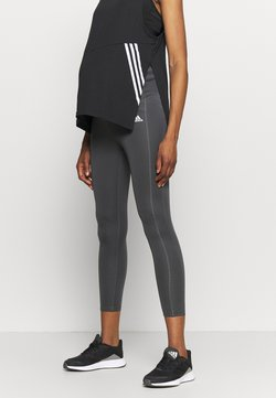 adidas Performance - MATERNITY - Tights - grey six/black