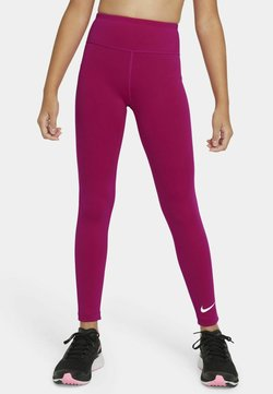 Nike Performance - ONE  - Legginsy - fireberry/white