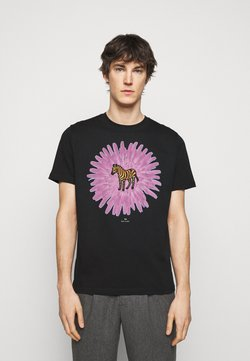 PS Paul Smith - MENS REG FIT FLOWER ZEBRA UNISEX - T-Shirt print - black